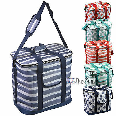 30L Extra Large Insulated Zip-Up Cool Bag Picnic Drinks Carrier Cooler Tote