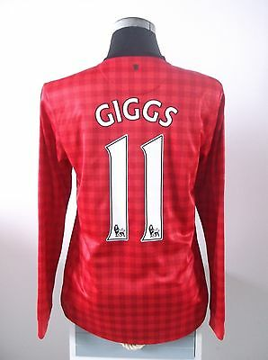 GIGGS #11 Manchester United Long Sleeve Home Football Shirt Jersey 2012/13 (M)