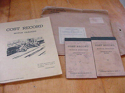Vtg Caterpillar Motor Grader Time and Cost Record Book Manual 1946-47  Completed