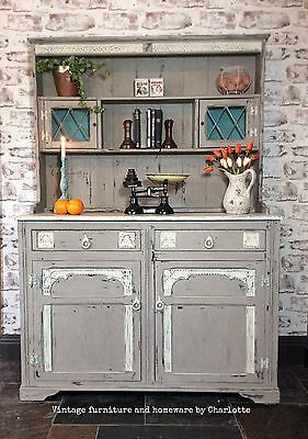 Vintage Rustic Wooden Country Style Kitchen/dining Dresser