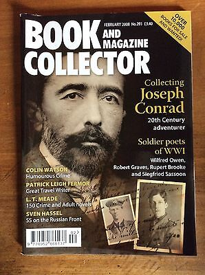 Book And Magazine Collector N°291 Feb 2008 Joseph Conrad / Ww1 Soldier Poets
