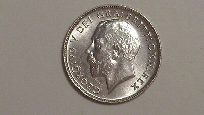 1914 Sixpence.George V.1911-1936. nUNC.Sharp Hair Detail..British Milled Silver.
