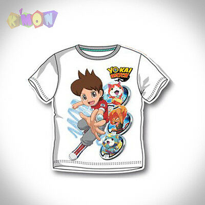 9640 Camiseta Yo-Kai Watch color Blanco manga corta 3 años