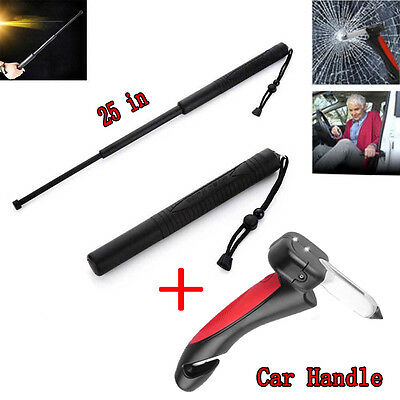 """25""""/63cm Rubber Safety Retractable Stick protect add Car Handle Hammer Car Tool"""