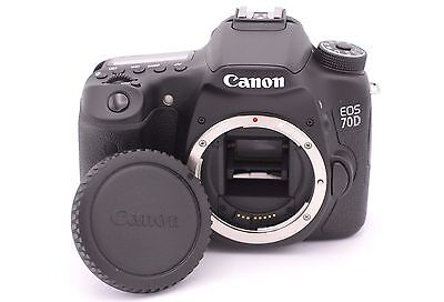 Canon EOS 70D 20.2MP Digital SLR Camera - Black (Body Only) - Shutter Count: 120