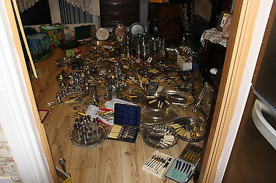 Vintage Silver Plated Job Lot (Tankard, trays, cutlery,and many more things)