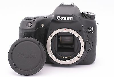 Canon EOS 70D 20.2MP Digital SLR Camera - Black (Body Only) - Shutter Count: 121