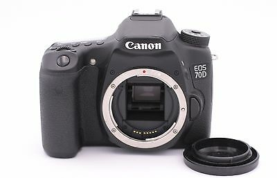 Canon EOS 70D 20.2MP Digital SLR Camera - Black (Body Only) - Shutter Count: 126