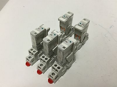 Lot Of 5 Automation Direct 781-1C-24D Relays with 781-1C-SKT Base Mounts