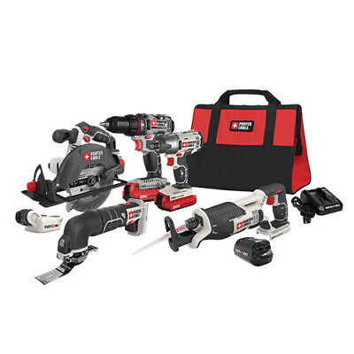 Porter-Cable Cordless Li-Ion 6-Tool Combo Kit PCCK617L6R Reconditioned