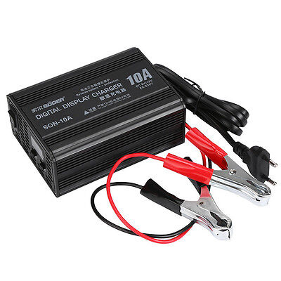 12V 3A-10A Smart Motorcycle Car Battery Charger Lead Acid Battery Charger 220V