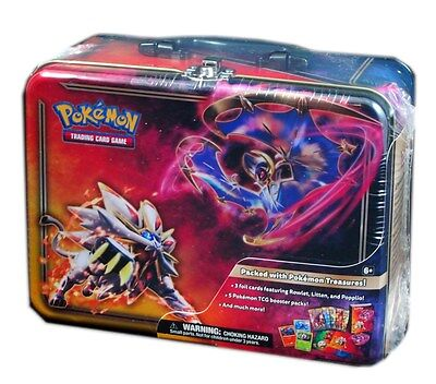 Pokemon TCG, Sun & Moon, Collector Chest Tin Lunchbox, New and Sealed