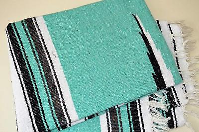 "Mexican Blanket Diamond Falsa "" MINT "" PREMIUM Handwoven Throw Rug"