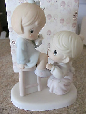 """Precious Moments Figurine - """"your Are Always There For Me"""" - Item 163600 - Mib"""