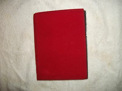 "Photo Album - Red Velour - Book-Bound, 40 - 4"" x 6"" Black Slip-In Sleeves"