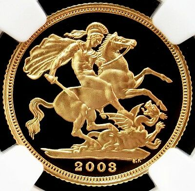 2003 Gold Great Britain Sovereign Coin Ngc Proof 69 Ultra Cameo