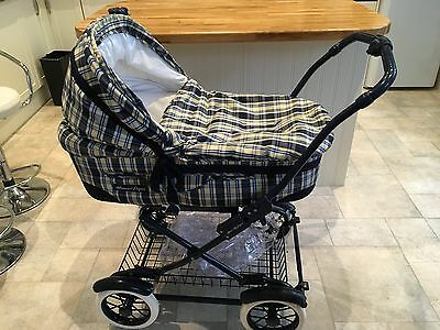 Mamas And Papas Pram/pushchair/stroller In Yellow And Blue Check