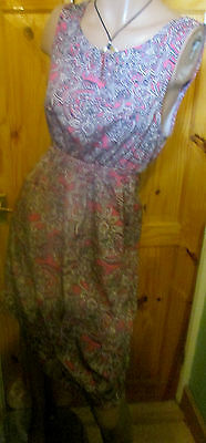New Look Maternity Pink/black/white Print Sleeveless Dress Size 16,