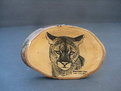 Mountain Lion Wooden Belt Buckle Felis Concolor Wood