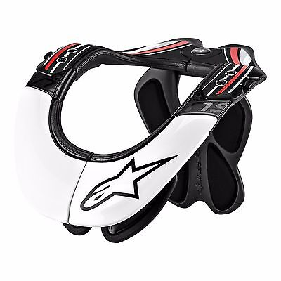 Alpinestars Bns Pro Neck Support Black/white/red Adult Size Xs-M 482-6010