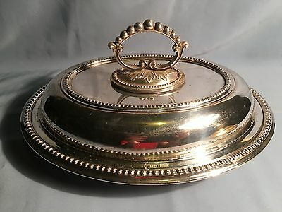 Vintage Silver Plated Tureen Entree Lidded Serving Dish