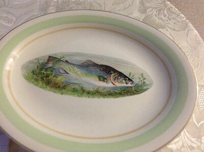 large woods and sons fish serving dish