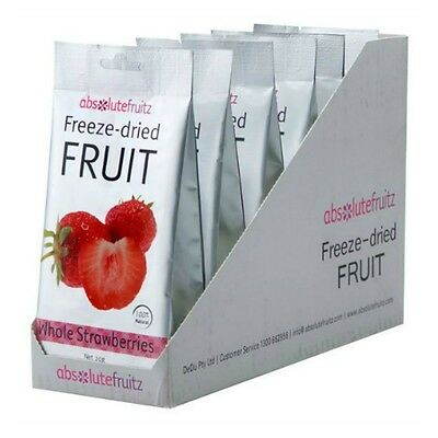 6 x Absolute Fruitz Freeze Dried Whole Strawberries Healthy Vegan Natural