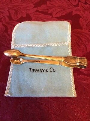 Vintage Tiffany & Co Sterling Silver Sugar Tongs