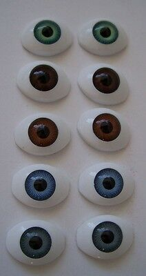 5 pr x New Acrylic Doll Eyes - 22mm - Set Lot - Cheap!