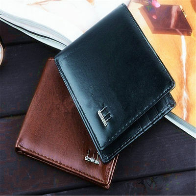 Men's Synthetic Leather Bifold Wallet Money Card Holder Clutch Pocket Purse