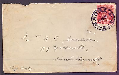 Australia  1934  Cover with a 2d George V stamp.