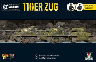 Warlord Games Bolt Action German WW2 Tiger Zug 28mm Scale Miniatures