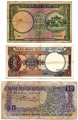 South Vietnam 1956-1966 Lot of 3 - Collectible