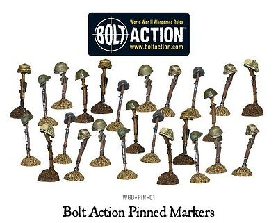 Warlord Games Bolt Action Pinned Markers WGB-PIN-01