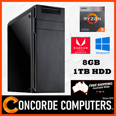 AMD Ryzen 3 2200G Quad Core 3.7GHz 8GB | 1TB | Gaming Computer Office Desktop PC
