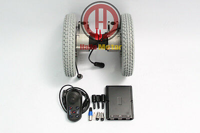 "24V 180W 12"" Brushless Geared Electric Wheelchair Conversion Kit e-Wheelchair"