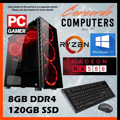 AMD AM4 A10 QUAD Core 9700 3.8GHz | 8GB |1TB| Gaming Computer System Desktop PC