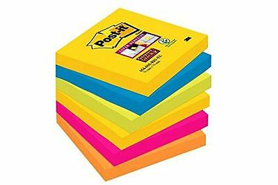 Post It Z Notes 76 x 76mm Super Sticky Reflls Assorted Colours