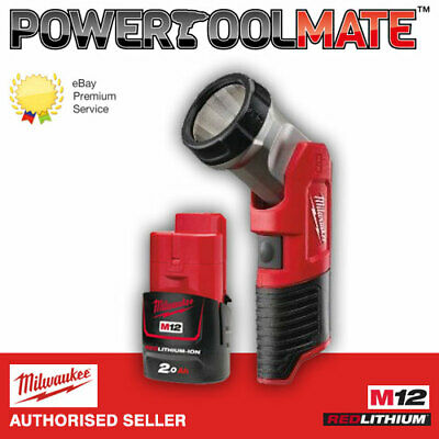 Milwaukee M12TLED-0 12V LED Work Light Torch with M12B2 2.0Ah Battery