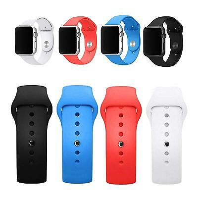 Replacement Sports Silicone Bracelet Band Watch Strap For Apple Watch 38mm 42mm