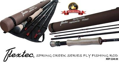 NEW Flextec SPRING CREEK Graphite Carbon Fibre Fly Fishing Rod Rrp £269  9' 10'