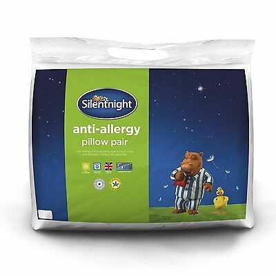Silentnight Luxury Anti Allergy Pillow Pair - Includes 2 Pillows - Bed Bedding