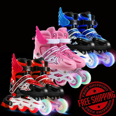 Adjustable Sizes Inline Skates Rollerblades Blades Shoes Boy Girl Kids Roller
