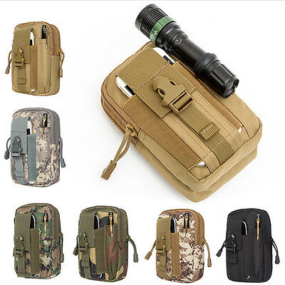 Outdoor Camping Hiking Bag Tactical Waist Belt WalletPouch for iPhone 7/Samsung