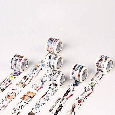 7m*3cm Zakka Washi Tape DIY Decor Scrapbooking Masking Adhesive Tapes Diary Dec