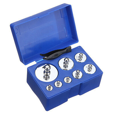 8 Pcs 1KG 10/20/50/100/200/500g Grams Precision Calibration Weight Set Scale KIT
