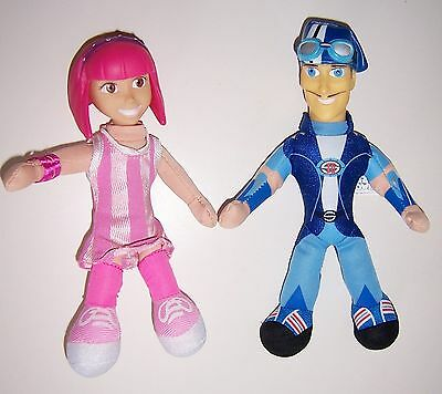 Lazytown Plush dolls Stephanie and Sportacus 8 inch tall Lazy Town childrens tv