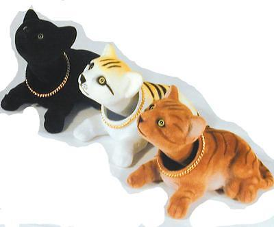 3 ASSORTED BOBBLE HEAD CATS moving toy cats NV365#1 novelty bouncing heads