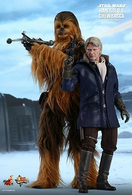 HAN SOLO & CHEWBACCA Twin Pack Hot Toys 1/6 Figure (Star Wars:Force Awakens)