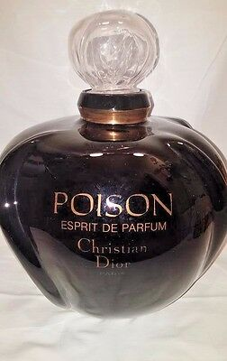 Rare Vtg Xtra Large Display Christian Dior POISON Perfume Factice Display Bottle